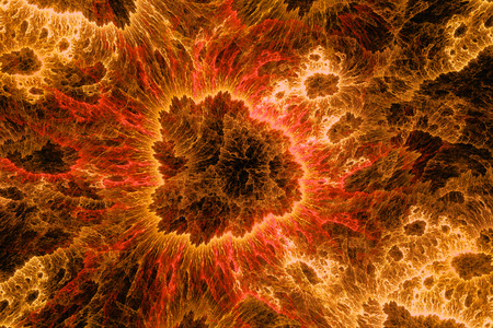 tectonics: Fire rocks in space, computer generated abstract fractal background