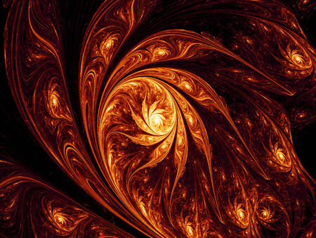 Artistic space fire flower nebula, computer generated fractal background photo