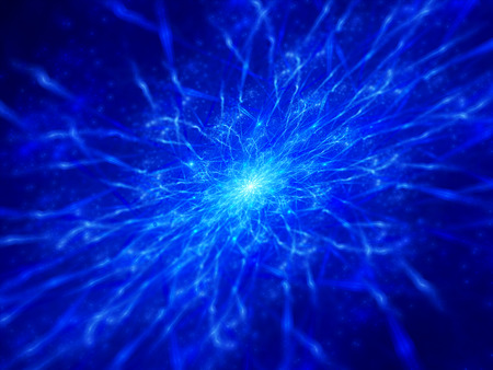 electromagnetic field: Blue electromagnetic field, computer generated abstract background Stock Photo