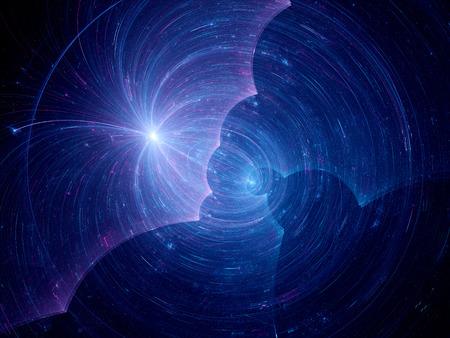 matter: Donkere materie in de ruimte, computer gegenereerde abstracte achtergrond Stockfoto