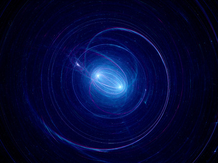 Dual spiral star system, computer generated abstract background photo