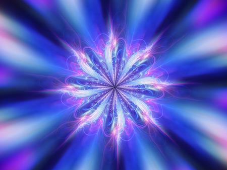 religious symbols: Magic blue mandala energy, chakra, computer generated abstract background