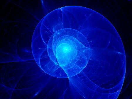 golden ratio: Spirale de plasma bleu dans l'espace, généré par ordinateur abstrait