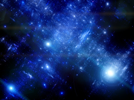 milky: Deep space with spiral galaxies, milky way Stock Photo