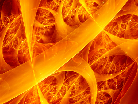 dynamic heat black: Fire fractal illustration, computer generated abstract background