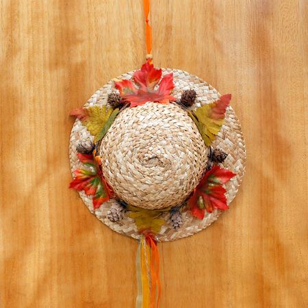 positive thought: Little hat hanging on door, sweet home