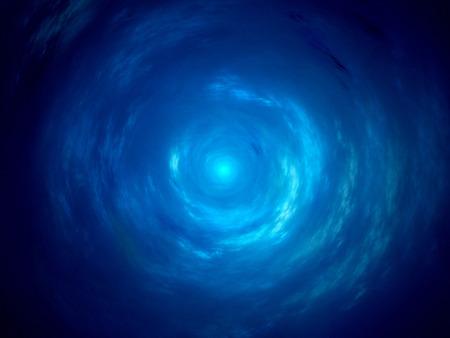渦巻銀河、コンピューターで生成された抽象的な背景の中心 写真素材