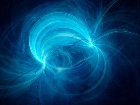 Champ électromagnétique Bleu, généré par ordinateur abstrait