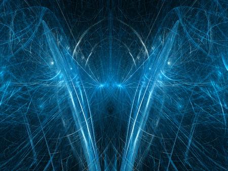 quantum: Hersenen van de kwantumcomputer, abstract gegenereerd fractal Stockfoto