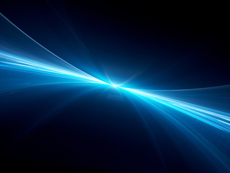 Glowing neon curves, future technologies, computer generated abstract