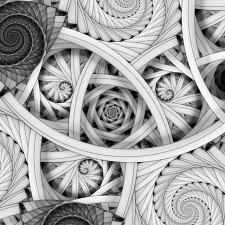 Golden ratio spiral fractals, computer generated abstract background