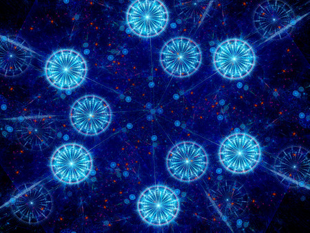 viral strain: Dangerous round shape viruses, computer generated abstract background