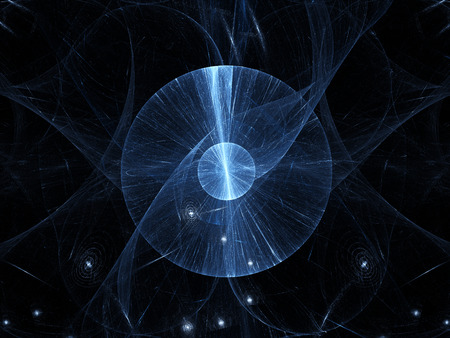 the big bang: Big bang in space, computer generated abstract background Stock Photo