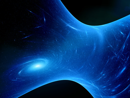 dimensions: Space time declination, computer generated abstract background