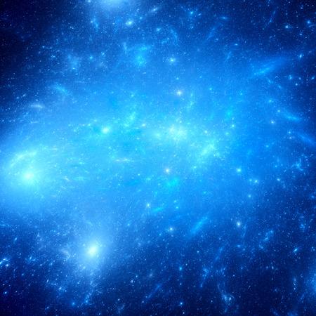 wasserstoff: Glühende junge Sterne im Weltraum, Computer generierte abstrakte Hintergrund