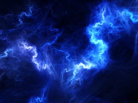 공간에서 고 에너지 플라즈마, 컴퓨터 생성 추상적 인 배경