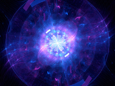 Glowing Higgs boson, computer generated abstract background photo