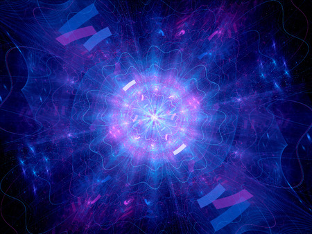Blue glowing Higgs boson, computer generated abstract background photo