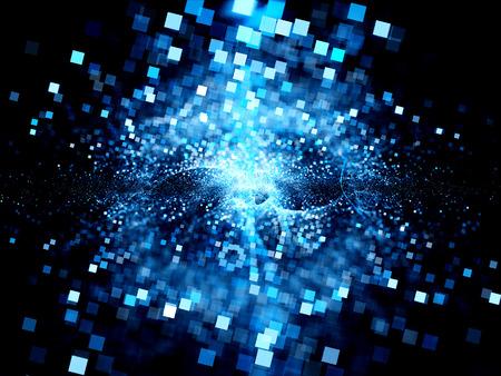 Big bang di tecnologie future, generato dal computer sfondo astratto Archivio Fotografico - 34506318