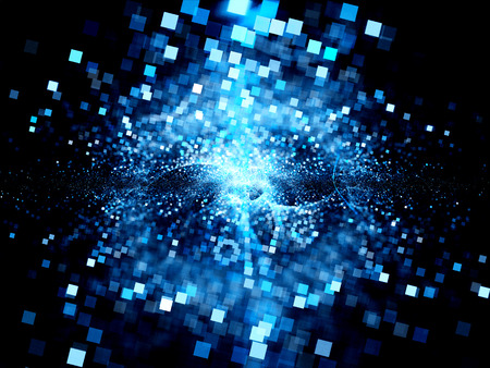 Big bang of future technologies, computer generated abstract background Zdjęcie Seryjne - 34506318