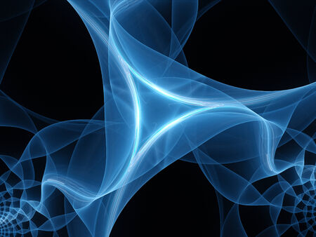quantum: Blue glowing mesh detail, computer generated abstract background