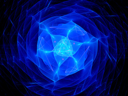 cosmic rays: Blue plasma in space, computer generated abstract background