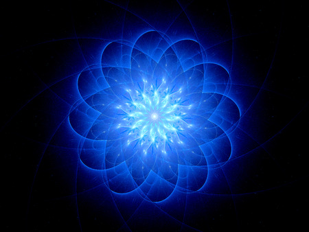 star shaped: Star shaped glowing object, computer generated abstract background