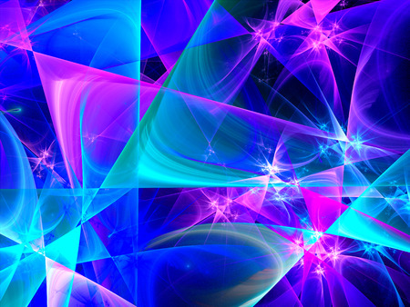 fractal pink: Colorful glowing lines, computer generated abstract background