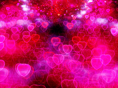 corazon: Valentine Hearts Abstract Pink Background with bokeh. St.Valentine Stock Photo