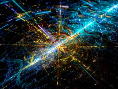 カラフルな将来の技術、コンピューター生成された抽象的な背景
