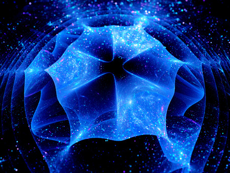 singularity: Singularity in space, computer generated abstract background Stock Photo