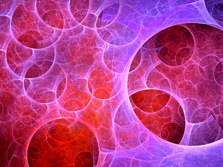 Multiverse bubbles fractal, computer generated abstract background photo