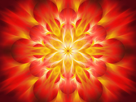 Fiery chakra flame, computer generated abstract background