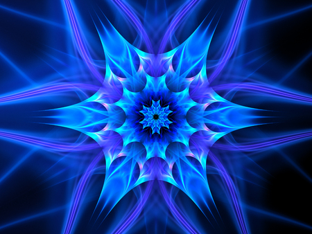 tantra: Colorful glowing mandala in space, computer generated abstract background