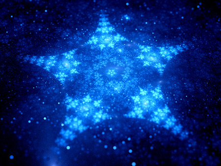 star shaped: Star shaped fractal in space, computer generated abstract background