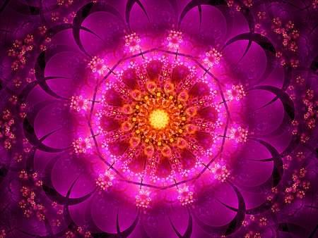 tantra: Purple oriental fractal, computer generated abstract background