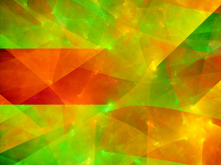surfaces: Multicolored surfaces in space, computer generated abstract background Stock Photo