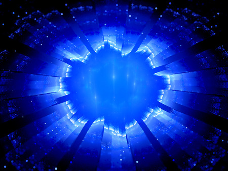 wormhole: Blue glowing galactic gate, computer generated abstract background