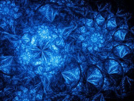 golden ratio: Bleu brillant spirales dans l'espace, généré par ordinateur abstrait