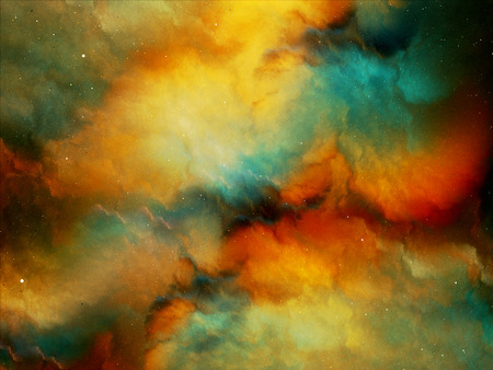 gaseous: Multicolored fog in deep space, computer generated abstract background