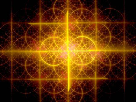 golden ratio: Orange éclatant fractale, générée par ordinateur abstrait