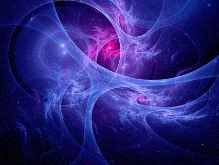 カラフルなシナプスのシステム、コンピューター生成された抽象的な背景