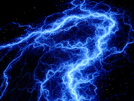 lightening: Blue glowing lightening fractal, computer generated abstract background
