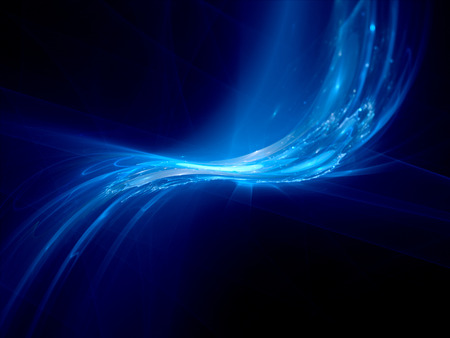 gpu: Blue glowing shapes, new technology, computer generated abstract background Stock Photo
