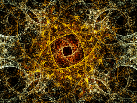 microcosm: Mysterious fractal artwork, computer generated abstract background Stock Photo