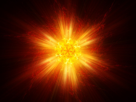 fiery: Fiery magical explosion, computer generated abstract background