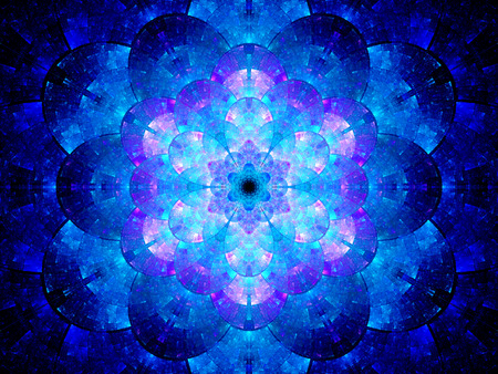 Colorful futuristic mandala artwork, computer generated abstract background