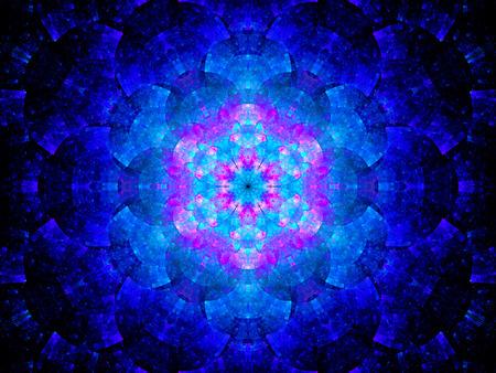 Colorful artwork mandala futuristica nello spazio, generato dal computer sfondo astratto Archivio Fotografico - 38201473
