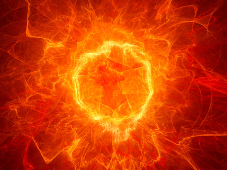 Fiery torus shaped plasma power field, computer generated abstract background