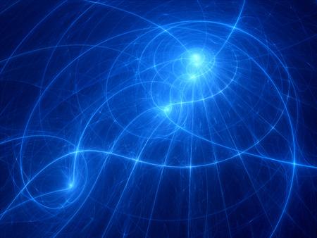 trajectoire: Mysterious trajectoire �clatante, g�n�r�es par ordinateur abstrait Banque d'images